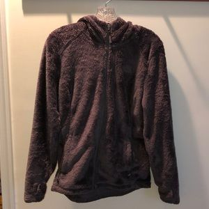 Fuzzy North Face zip up